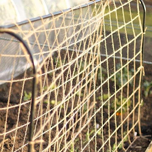 Tech-Garden 2 m x 5 m Plant Support Netting 100% Eco Friendly Biodegradable & Compostable Natural Garden Jute Trellis Twine