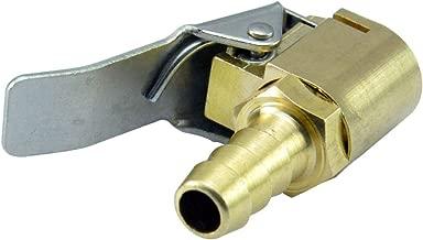 AutoEC Open Flow Air Chuck with Clip, Tire Inflator Lock-on Air Chuck - Tire Inflator Valve Connector - 6mm 1/4'' Brass