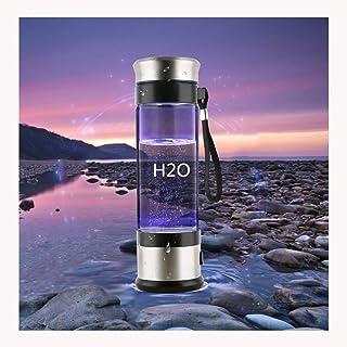 FYJK El hidrógeno portátil de 3 Minutos en la Botella de Agua, Recargable Generador de Agua ionizada Cafetera, Botella alcalina Energía Copa hidrogenado de Agua, 350 ml