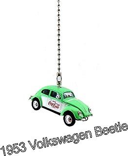 VOLKSWAGEN VW Cars Diecast Ceiling Fan Light Pull Chain Ornaments 1:64 (1953 VW Beetle Deluxe Coke Green White)