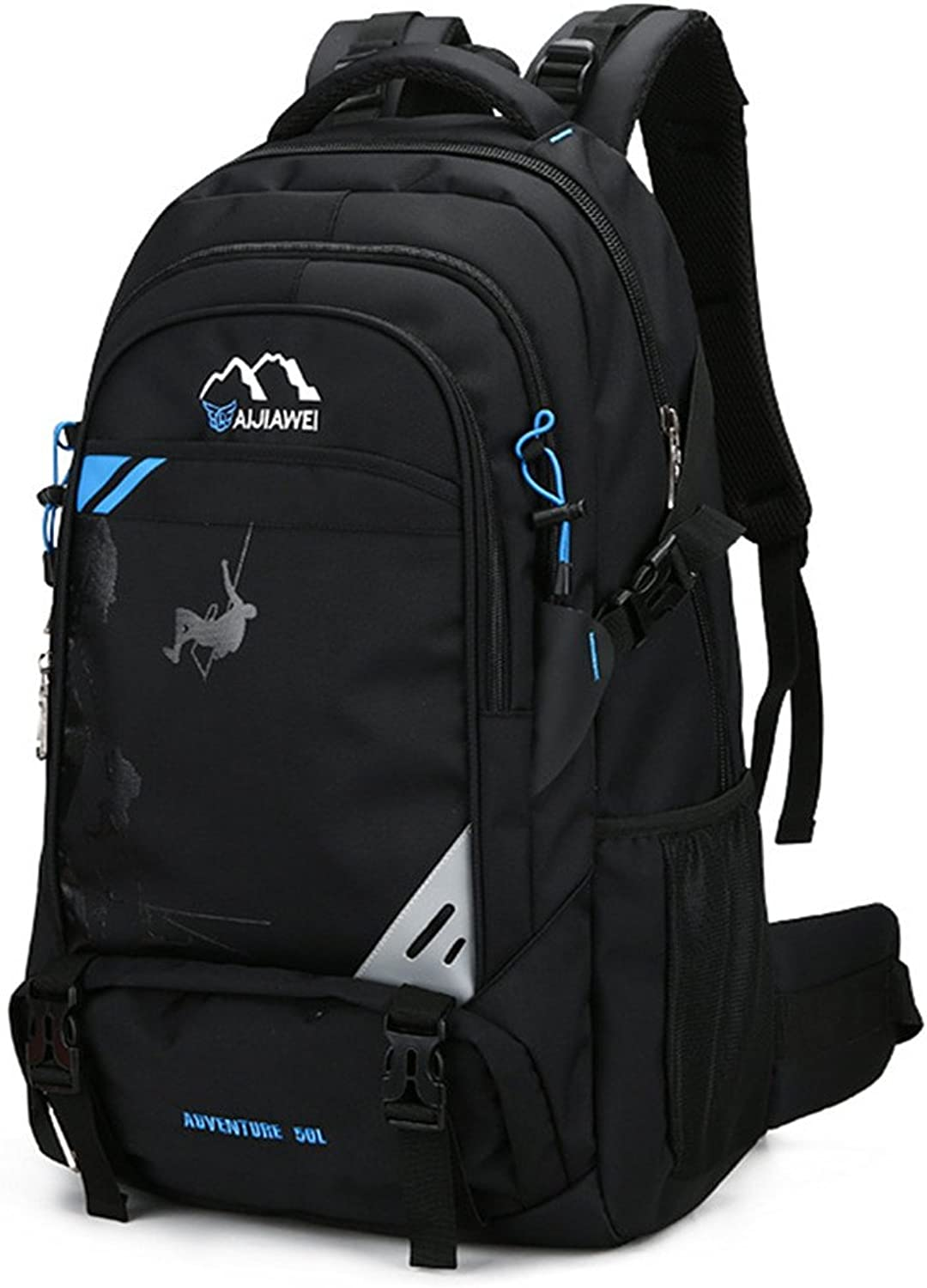 Backpacks Waterproof and Breathable Multifunction Travel by Walking Climbing Leisure Sport Neutral Package Suitable for Outdoor Use (color   Black blueee)