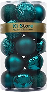KI Store Large Christmas Balls Dark Teal 20pcs Shatterproof Christmas Tree Ornaments..