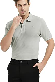 Men Golf Shirts Short Sleeve Man Sports Athletic Polo Shirts Dry Fit Golf Tops with Buttons