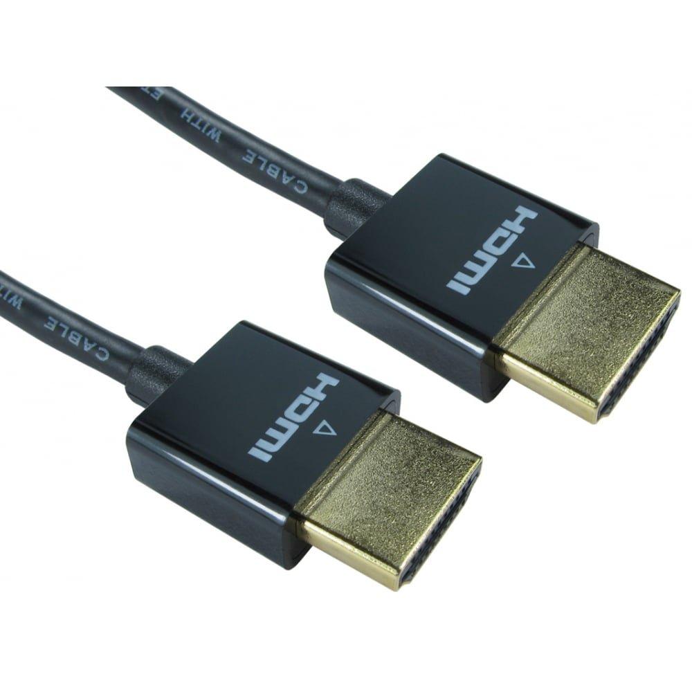 Bluecharge Direct - Cable HDMI ultrafino para PC, portátil, TV, metal, color dorado (3 metersmeters), color negro: Amazon.es: Electrónica