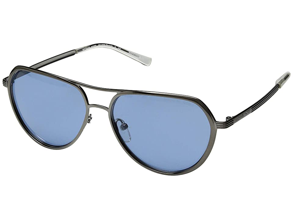 Michael Kors Madrid 0MK1036 57mm (Gunmetal/Chambray Solid) Fashion Sunglasses