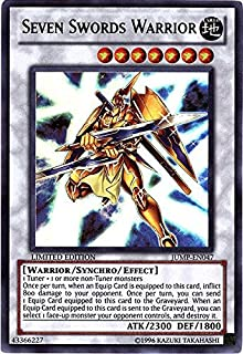 Konami YuGiOh Shonen Jump Ultra Rare Seven Sword Warrior JUMP-EN047