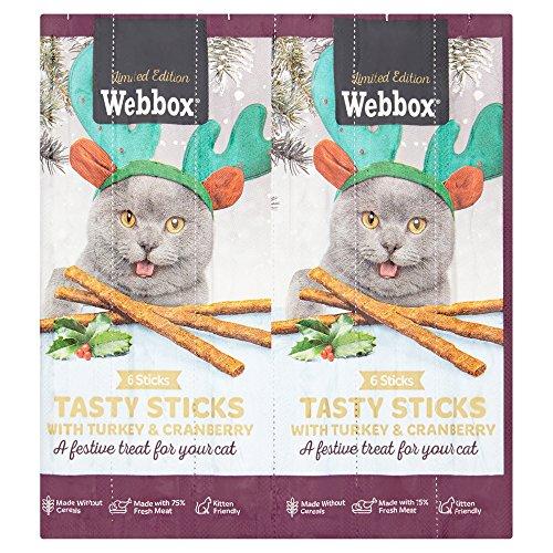 Webbox Katzen-Sticks mit Truthahn und Cranberry, 30 g