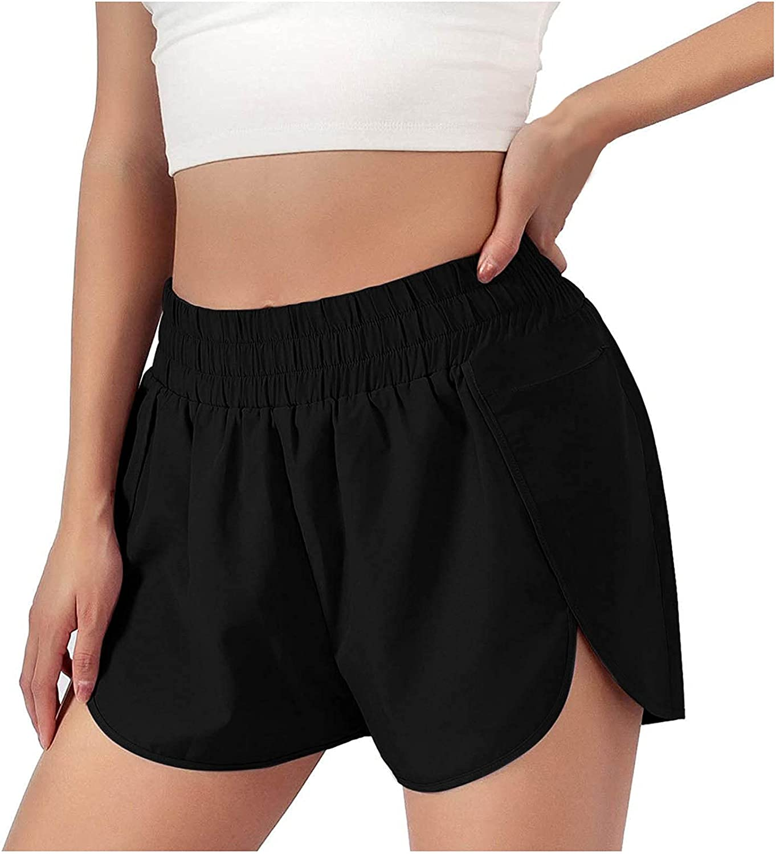 miqiqism Women Jogger Running Shorts Sport Pant Elastic Waist Active Workout Pocket Shorts Summer Casual Short Pants