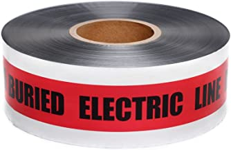 Swanson DETR31005 3-Inch by 1000-Feet 5-MIL Detectable Tape Caution with Buried Electric Line Below Red/Black Print