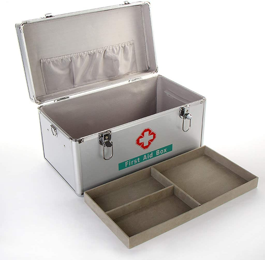 4 years warranty Empty Medication Lock Box Large Aid Hierarchical Ranking TOP13 First Grid