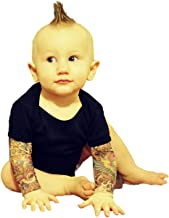 Wild Rose Baby Boy Girl Tattoo Sleeve Shirt, Mom Dad Salvation, Black