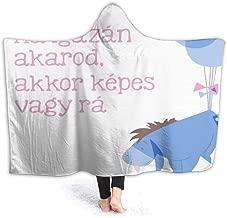 JIEKEME Hooded Blanket Eeyore in The Way Throw Wearable Cuddle Hooded Robe Blanket
