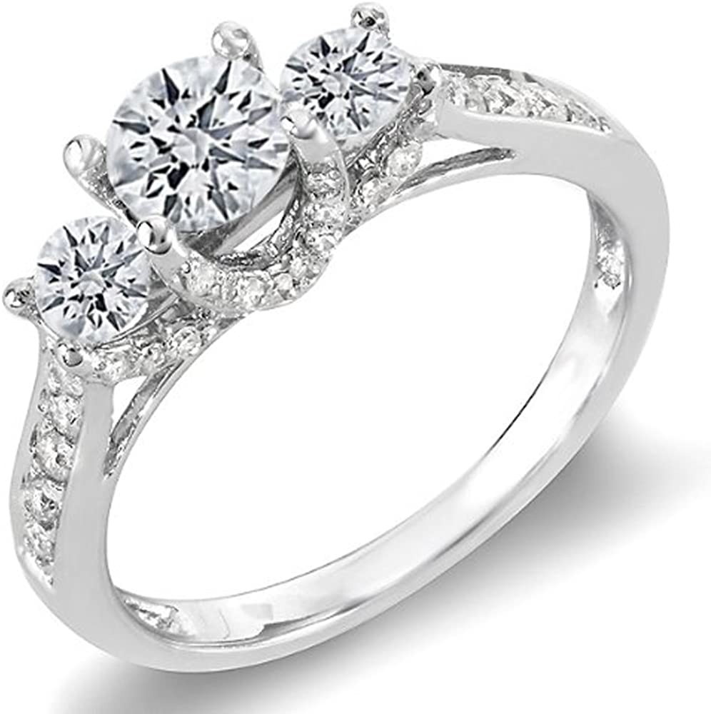 Ranking TOP8 Dazzlingrock Collection 1.00 Carat A surprise price is realized ctw White Round Di Gold 14K
