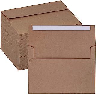 Supla 150 Pcs A7 Envelopes Brown Kraft Invitation Envelopes 5 x 7 Envelopes Self Seal Business Envelopes Photo Envelopes G...