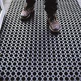 OlivoShop - Robust, zerbino in Gomma Antiscivolo a griglia, drenante, barriera antisporco, Spessore 16mm, Adatto ad Ambienti di Lavoro, Ingresso o Uso Esterno. Octo Door. Varie Misure (100x150cm)