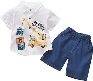 Kurze Hose 3-24 Monate wuayi  Baby Jungen Cartoon Ente Kurzarm T-Shirt