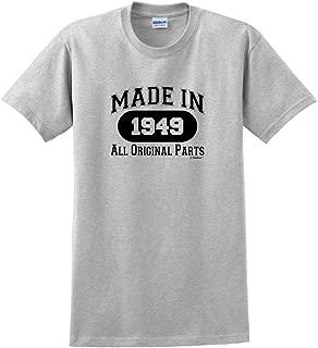 70th Birthday Gifts Made 1949 All Original Parts T-Shirt