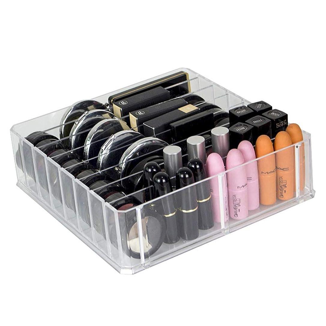 口実長方形専門化する化粧品入れ おしゃれ 化粧台、化粧台、化粧台、化粧台、化粧台、化粧台、化粧台、その他 整理簡単 引き出し小物 (Color : Clear, Size : 24.6*24*7CM)