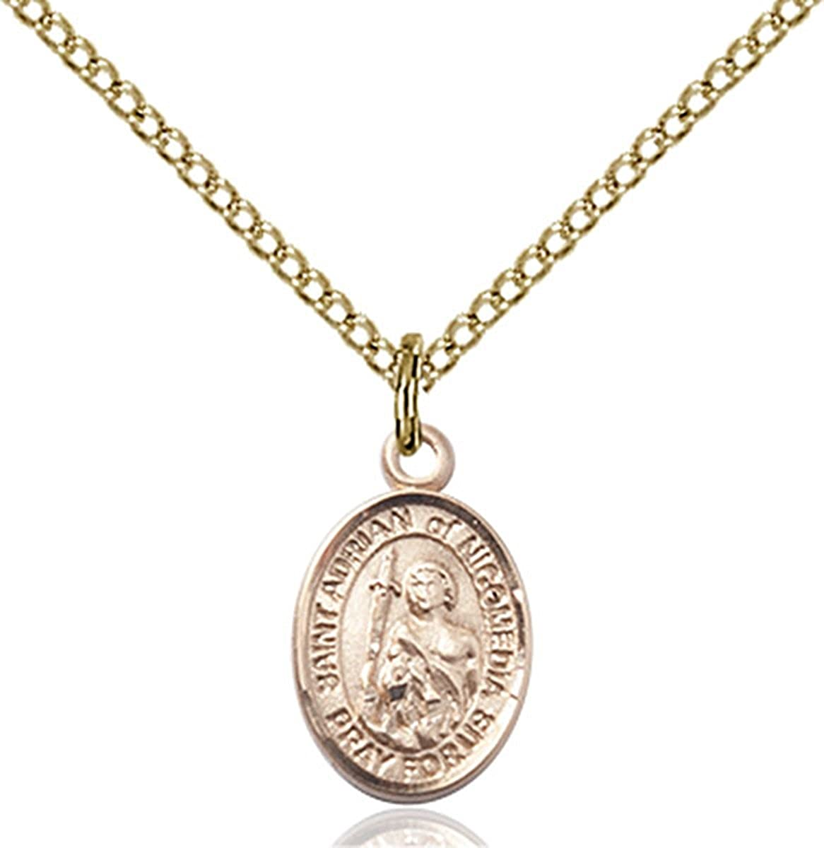 14KT Gold Filled Catholic Patron Saint Max Detroit Mall 70% OFF 1 Medal Petite 2 Charm I