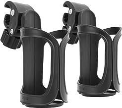2 Stück Getränkehalter für Kinderwagen Buggy,Nuckelflaschen kaffeehalter,Fahrrad Flaschenhalter,360 Grad Rotation Getränk Wasser Becherhalter für Fahrräder, Mountainbikes, Kinderwagen und Rollstuh