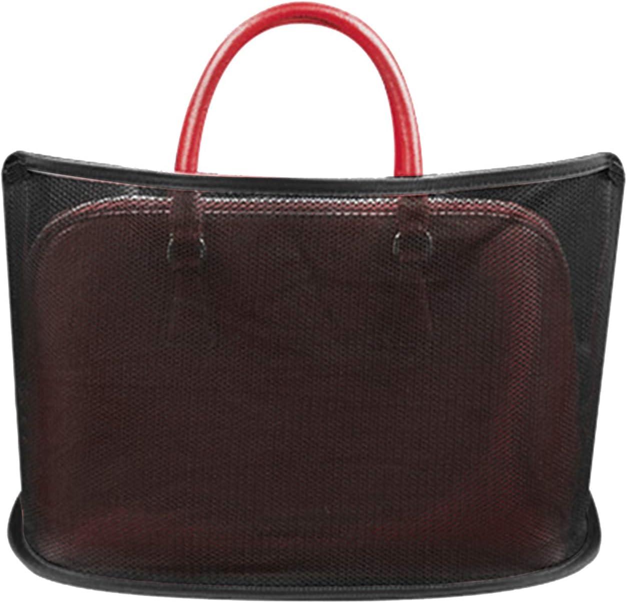 Not Included Handbag Black, Advanced Car Net Pocket Handbag Holder Seat Back Organizer Mesh Large Capacity Bag for Purse Storage Phone Documents Pocket Car Seat Storage Net Bag