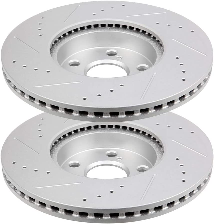 Front Brake Rotors 送料無料 Discs Drilled 5☆大好評 HUBDEPOT Slotted for fit 2009-2