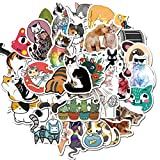 MSOLE Cute Cat Stickers for Water Bottles Laptop HydroFlasks Aesthetic Decals for Mac Computer Phone Guitar Luggage