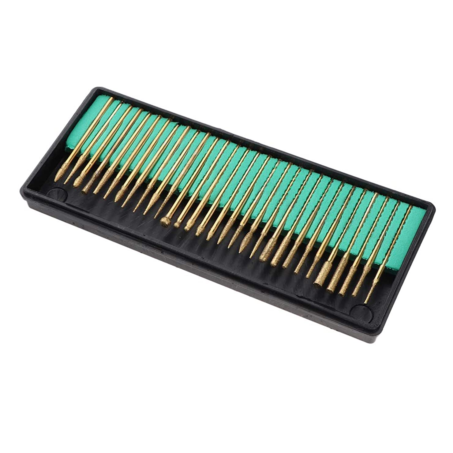 バスケットボール皮抜け目がないFLAMEER 30本 ネイルチップ研削ヘッド ステンレス鋼製 ネイルドリルビット セット