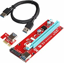 PCI-E 1X to 16X Extender Riser Cable VER 007s- Powered by SATA ETH 60CM USB 3.0 Extension Cable Adapter Card-Currency Dedicated Graphics Card Mining (1 pack)