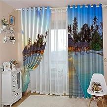 3D verduisterende gordijnen zee strand landschap gordijnen woonkamer slaapkamer ramen keuken woonkamer decoratieve gordijn...