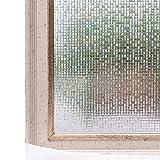 CottonColors 窓用フィルム 目隠しシート 断熱シート uvカット 3D 何度も貼り直せる 30x200cm プライバシーガラスフィルム [石道004]