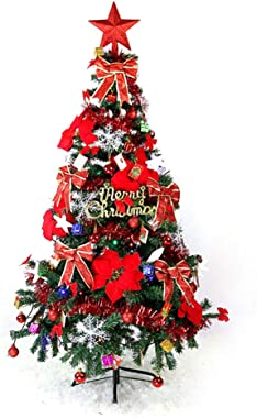 AIZYR Artificial Christmas Tree, Fake Christmas Tree - for Indoor and Outdoor Holiday Decoration (Light String), Red