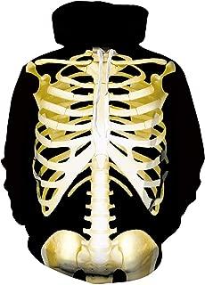Men Women Pullover Hoodie Plus Velvet Unisex 3D Creative Printed Hooded Sweatshirt with Pockets