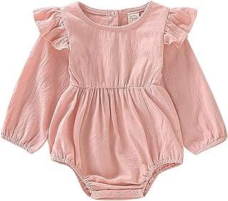 blush pink baby romper