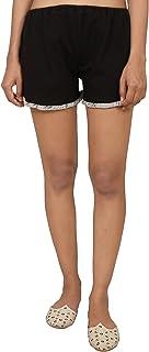 9teenAGAIN Women's Hosiery Solid Short(Black & Grey)