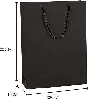 IPENNY 10 pcs- Kraft Paper Bags Customizable Shopping Bags Party Bags Gift Bag Mechandise Bag Retail Bags Craft Bags 28cmx10cmx33cm