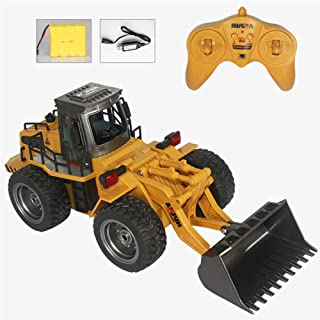 Remote Control Truck, Alloy Shovel Loader Tractor, RC Vehicle, 4 Wheel Bulldozer, 2.4G Radio Control 100M, Construction Vehicle Electronic Toys