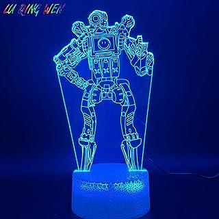 3D LedナイトライトランプゲームApex Legends Pathfinder Figure誕生日プレゼント用キッズホームデコレーションNightlight