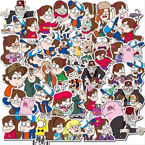 HONGC Gravity Falls Pegatinas Dibujos Animados monopatín...