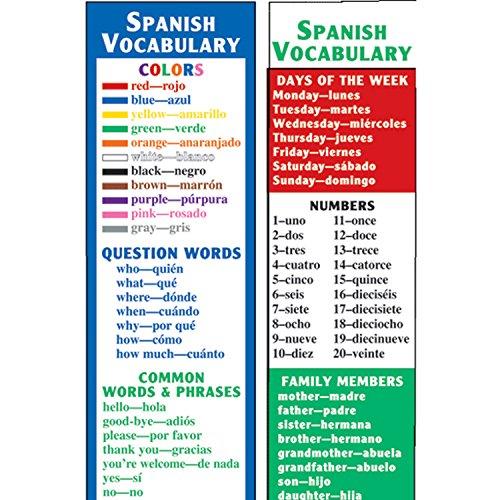 McDonald Publishing MC-K1161 Spanish Vocabulary Smart Bookmarks, 0.3' Height, 2.6' Wide, 6.5' Length (36 per Set)