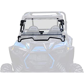 SuperATV Heavy Duty Scratch Resistant Flip Windshield for Polaris RZR XP Turbo/XP 4 Turbo (2019+) - Has 3 Different Settings!
