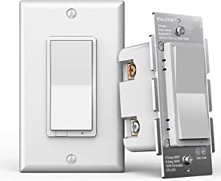 3-Way Smart WiFi Dimmer Light Switch, in-Wall, No Hub Required, Compatible with Alexa and Google Home (WF31)