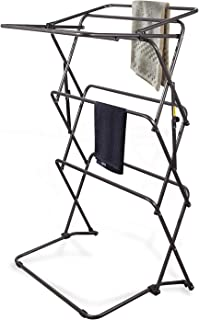 RedSwing Clothes Drying Rack, Laundry Drying Rack Collapsible Foldable Heavy Duty with Rustproof Coating, Black Metal