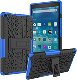 ROISKIN Amazon Fire HD 8 Tablet Case(8th and 7th Generation, 2018 and 2017 Release), Kickstand Anti-Slip Shockproof Impact Resistance Dual Layer Heavy Duty Protective Case Cover