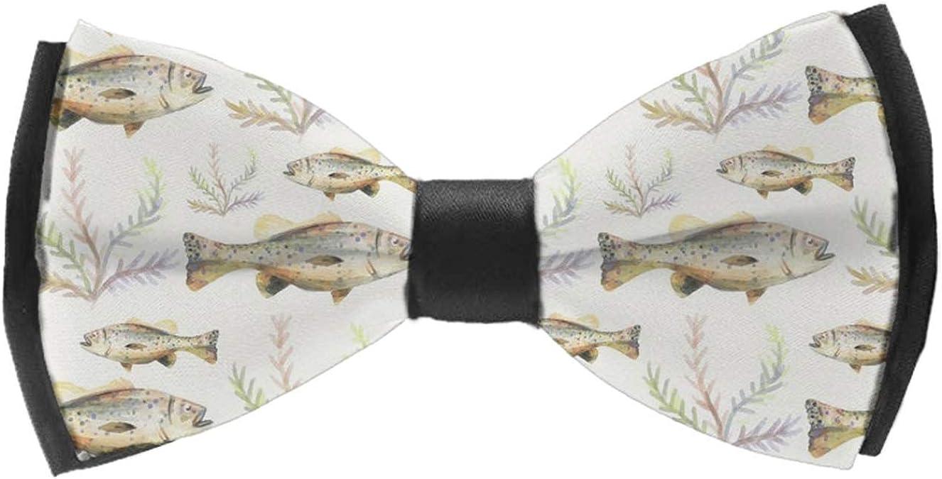 Mens Bow Ties Handmade Pre-Tied Walrus Cute Animal Art Nautical Ocean Theme Antarctic Pattern Bow Ties For Men