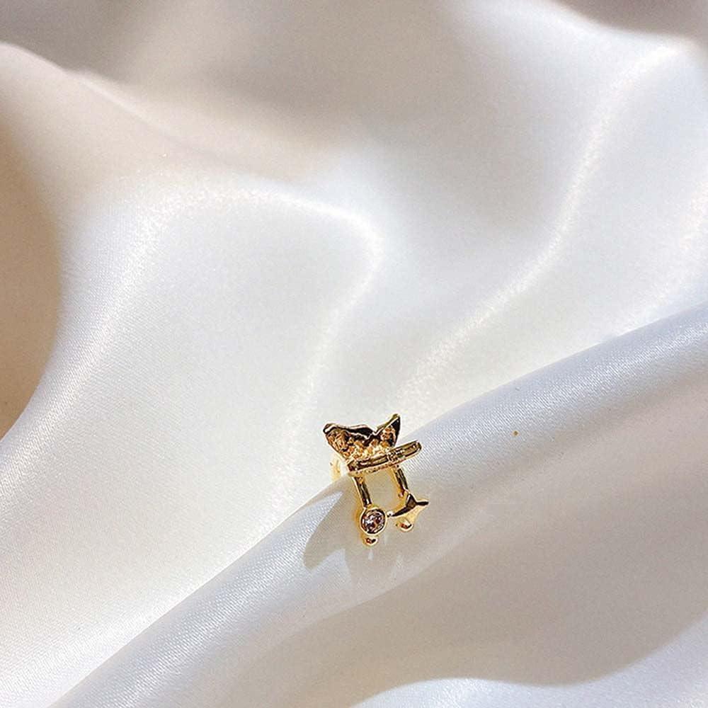 Simple Pearl Ear Cuffs, Fashion Butterfly Ear Clip, Fake Cartilage Earrings, Non-Piercing Earrings Set for Women(E)