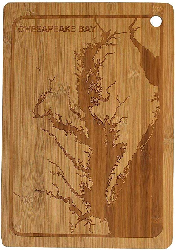 Route One Apparel Maryland Chesapeake Bay Bamboo Cutting Board