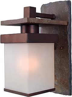 Kenroy Home 70283COP Boulder Medium Wall Lantern, Natural Slate with Copper
