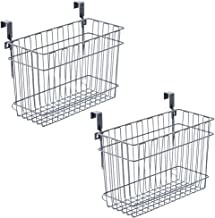 EZOWare Over The Cabinet Door Organizer/Wall Mountable Deep Storage Basket for Household Items (Pack of 2, Large)