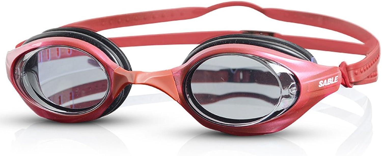 LE Professional racing flat swimming goggles waterproof glasses anti-fog HD wear-resistant